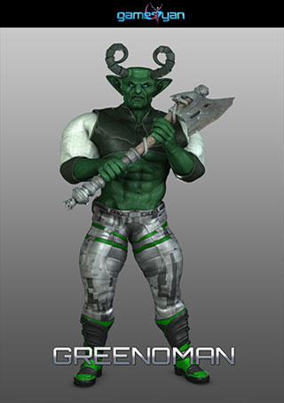3d-greenoman-warrior-character-modeling